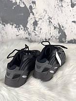 Мужские кроссовки Adidas X Kanye West Yeezy Boost 700 V2 Black Chocolate, фото 2