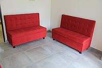 Офисные мягкие лавочки с ящиком (Красные), фото 1