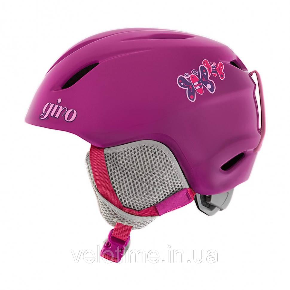 Шлем зим. Giro Launch детский (52-55,5 см, фиолетовый Butterflies)