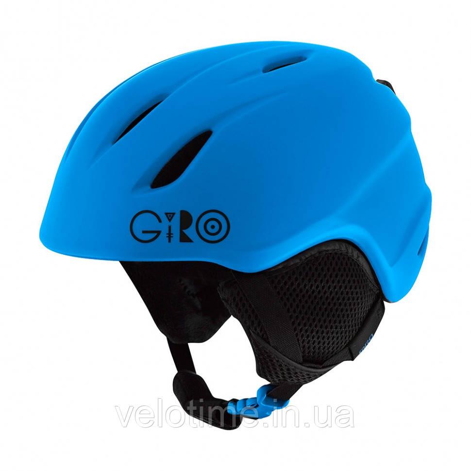 Шлем зим. Giro Launch детский (52-55,5 см, матовый синий)