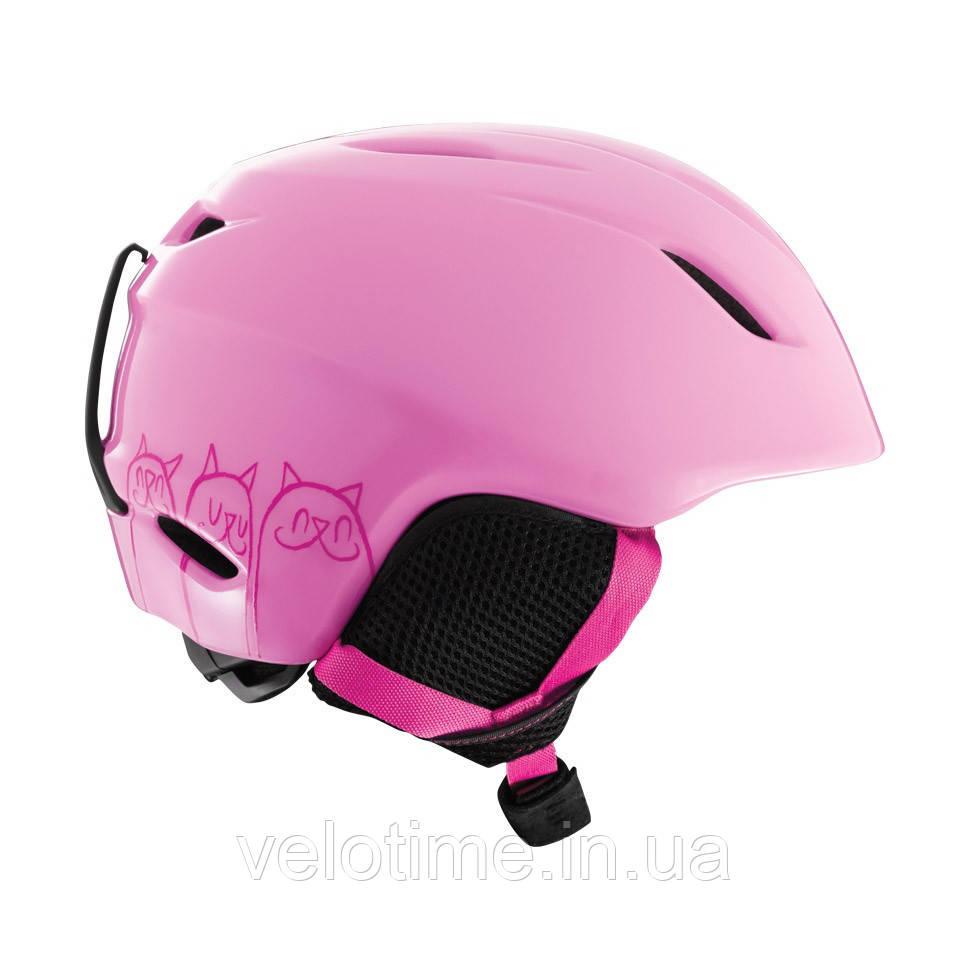 Шлем зим. Giro Launch детский (52-55,5 см, розовый Cats)