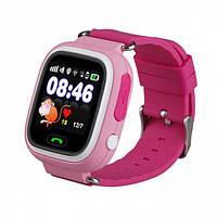 Смарт-часы сGPS, Wi-Fi, Smart Baby Watch Q100 Розовые