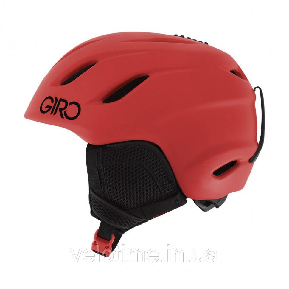 Шолом зим. Giro Nine Jr підлітковий (55,5-59 см, яскраво-червоний)