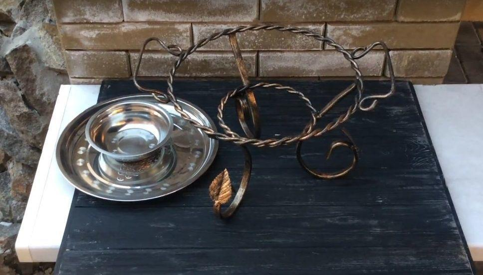 Садж. Тарелка для подогрева шашлыка 280мм