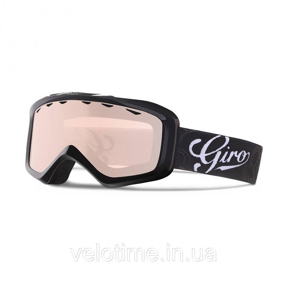 Маска зим. Giro Charm  Flash  (черный Sketch Floral, Rose Silver)