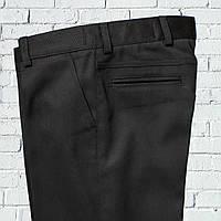 """Школьные брюки для мальчика """"Бруклин"""" зауженные черные"""