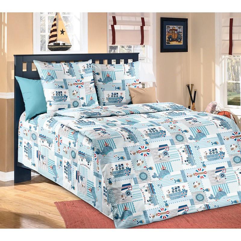 """Комплект постельного белья """"Кораблики"""", подростковый"""