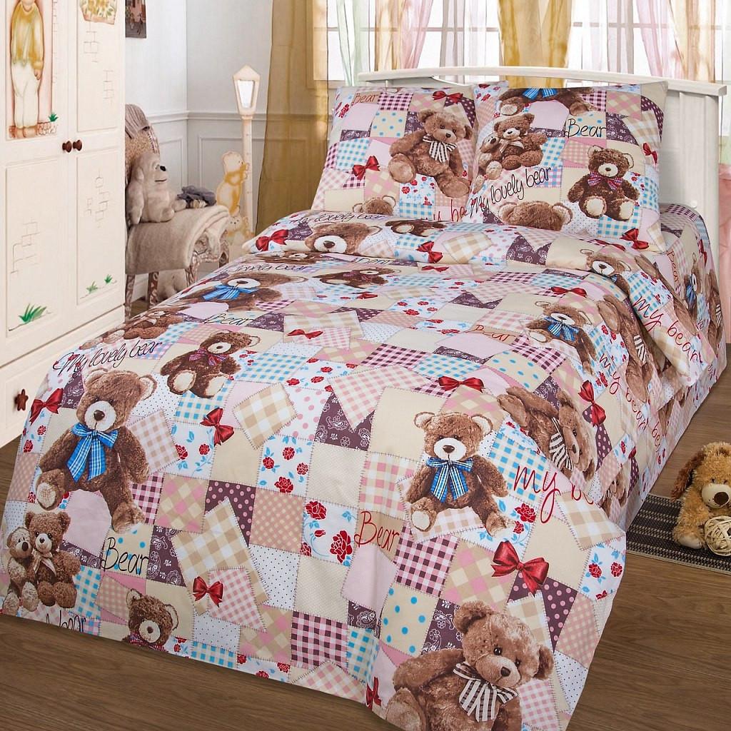 Комплект постельного белья Мой медвежонок в кроватку