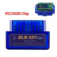 Elm327 1.5 mini Bluetooth PIC18F25K80 адаптер Елм327 1\5 блютуз 2 платы