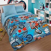 """Комплект постельного белья """"Мотокросс"""" подростковый"""
