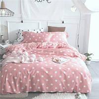 """Комплект постельного белья """"Звезды на розовом , ранфорс Lux"""", двуспальный , фото 1"""