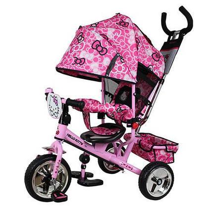 Детский трехколесный велосипед Turbo Trike HK 0118-02 Hello Kitty, розовый, фото 2