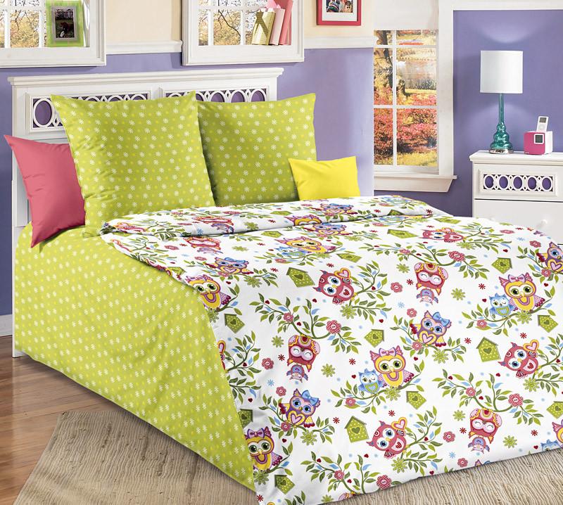 Комплект постельного белья (бязь) Совята в кроватку