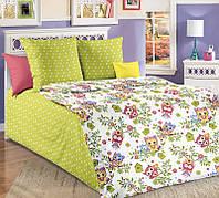 Комплект постельного белья (бязь) Совята в кроватку, фото 1
