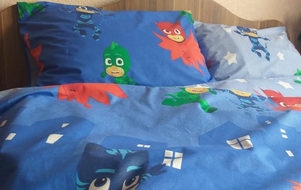"""Комплект постельного белья """"Герои в масках  , ранфорс Lux"""" в кроватку"""