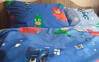 """Комплект постельного белья """"Герои в масках  , ранфорс Lux"""" в кроватку, фото 1"""