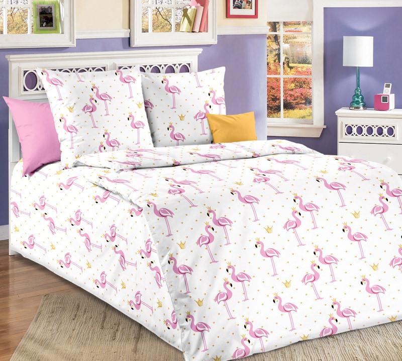 """Комплект постельного белья """"Розовые Фламинго"""" подростковый"""