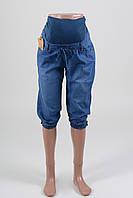 Бриджи джинсовые летние для беременных светлые