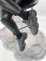 Женские кроссовки Adidas Yeezy 500 Blush All Black , фото 3