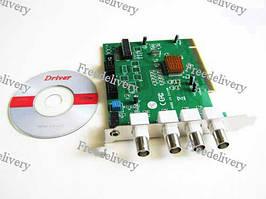 4-канальная PCI карта видеонаблюдения