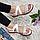 Женские сандали белые из натуральной кожи на плоской подошве, фото 4