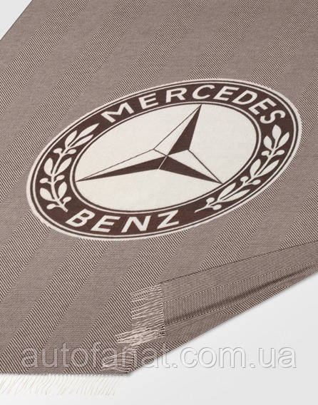 Оригінальний плед Mercedes Blanket, Herringbone, Dark Brown / Off-white (B66041560)