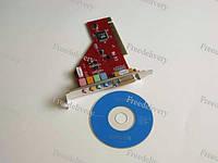 PCI 4 канальная звуковая карта MIDI Game порт