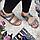 Жіночі сандалі сірі з натуральної шкіри на плоскій підошві, фото 4