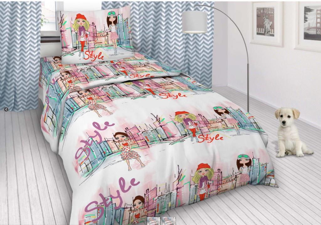 Комплект постельного белья (бязь) Городские девочки, подростковый