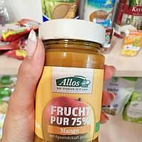 Пюре из манго без сахара органическое, Allos, 250 гр, Евросоюз