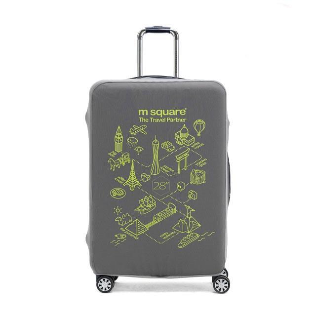 Чехол на чемодан серый