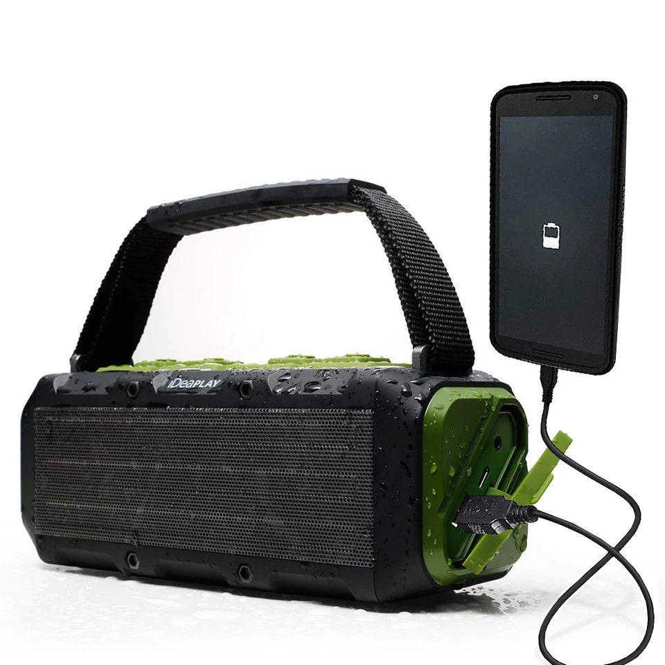 IDeaPLAY W204 IPX7 Водонепроницаемый Беспроводной Bluetooth Динамик 20 W hi-fi звук