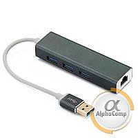 Адаптер Dynamode USB 3.0 - RJ45 Ethernet 1Gbit (з 3-х портовим USB хабом 3.0)