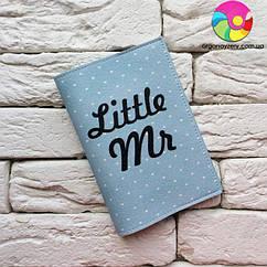 Обложка для паспорта Little Mr (голубой)