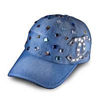 Женская джинсовая бейсболка, кепка  Denim