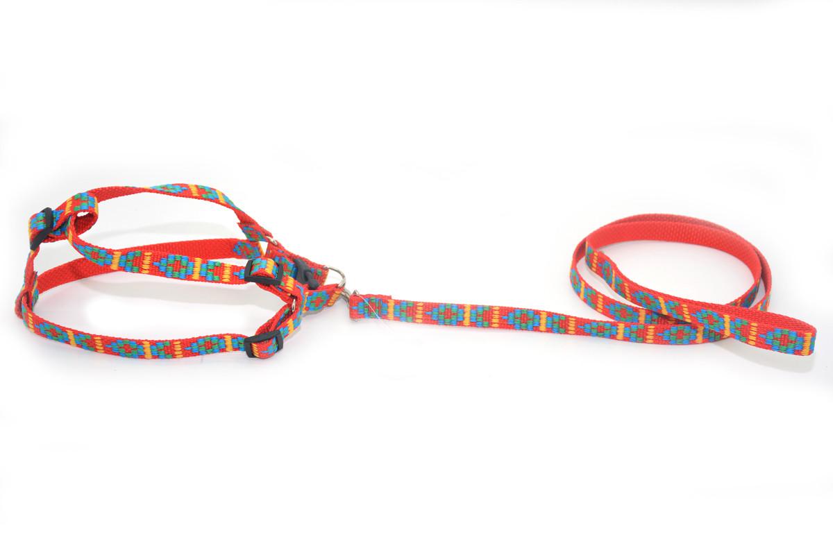 Комплект капроновый Вышиванка для собак и котов красный