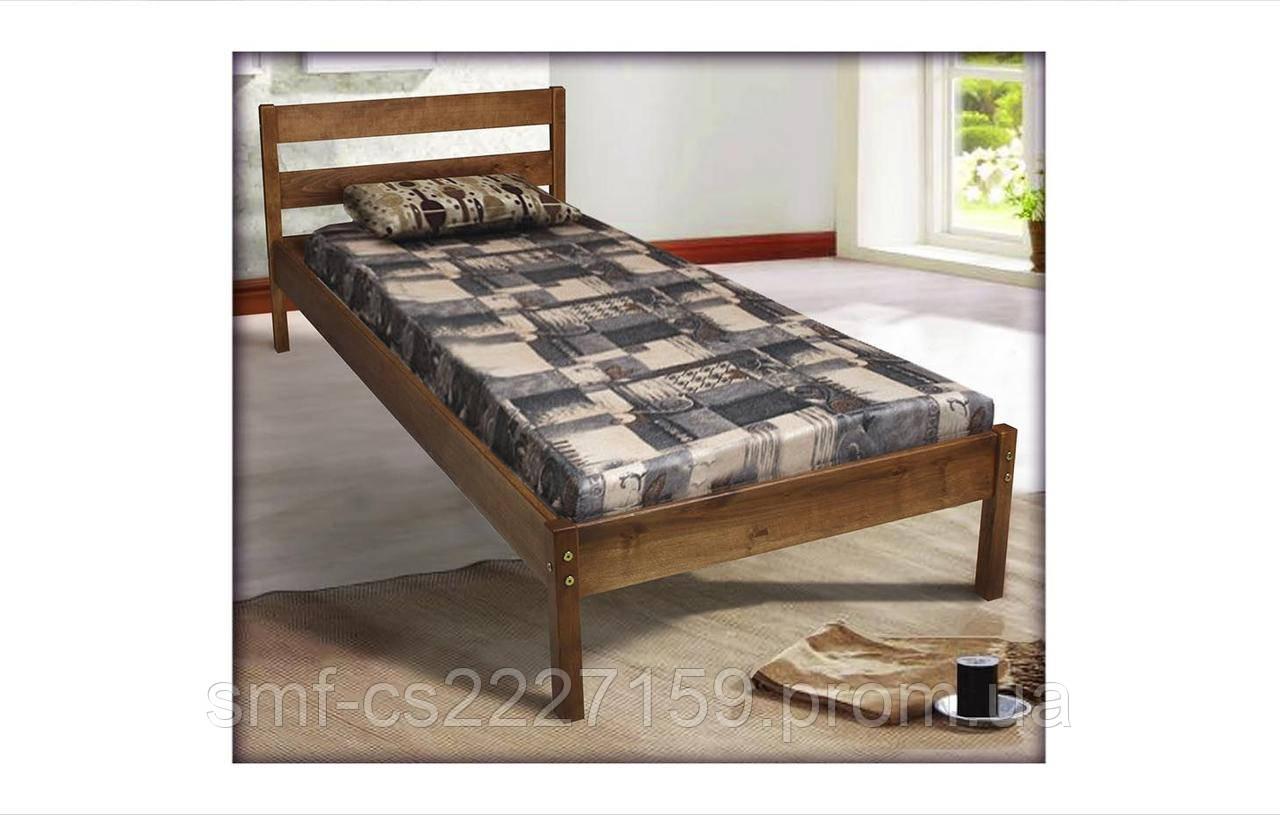 Односпальне ліжко з натурального дерева 80х200