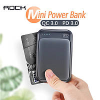ROCK P65 Mini PD Power Bank 10000mah PD3.0 QC3.0 черный, фото 1