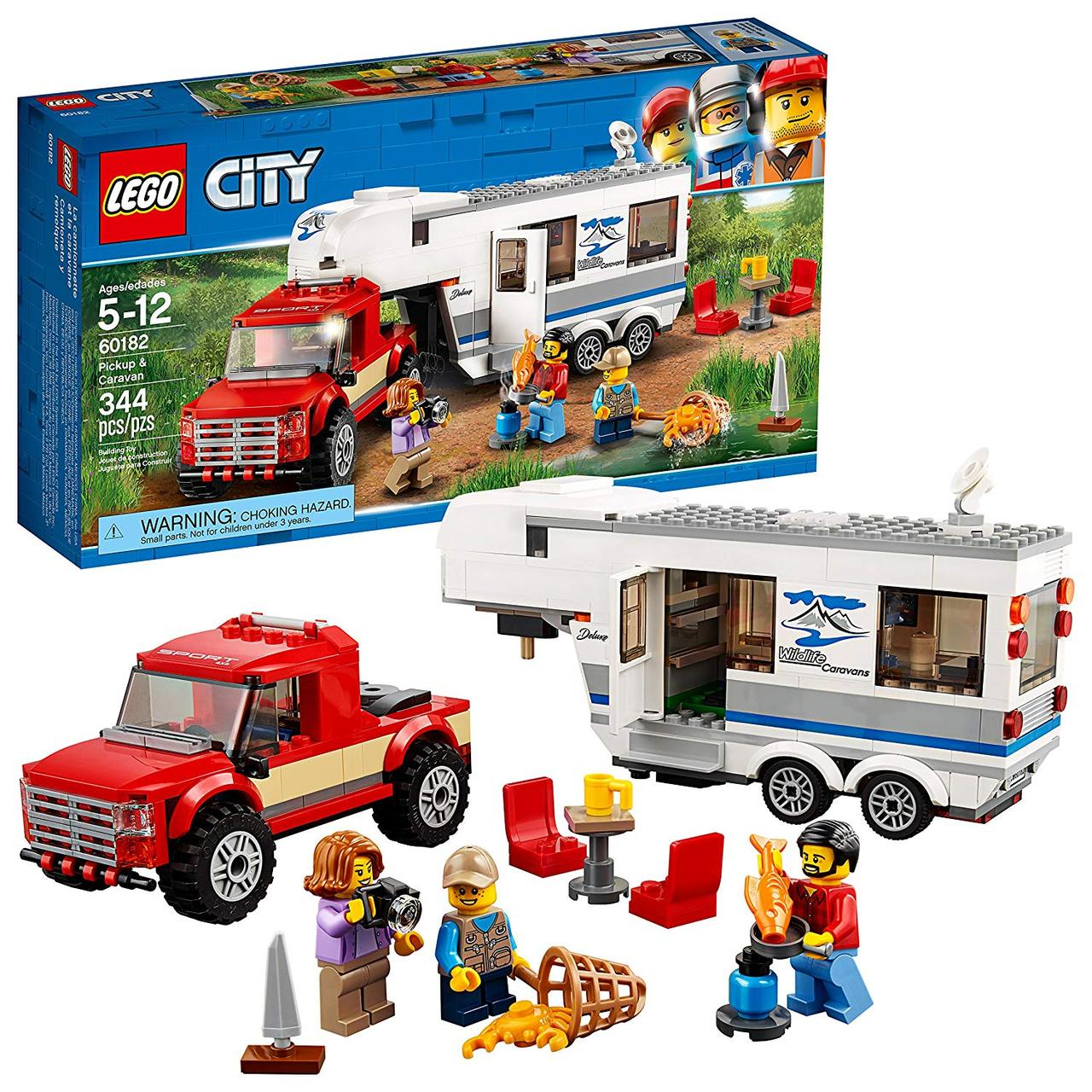 Конструктор LEGO City Пикап и фургон 344 детали (60182)