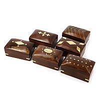 Набор деревянных шкатулок для украшений 6 шт WBS110