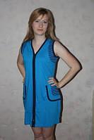 Женский  халат декорирован полоской