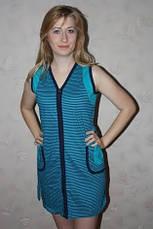 Женский  халат декорирован полоской, фото 2