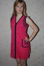 Женский  халат декорирован полоской, фото 3