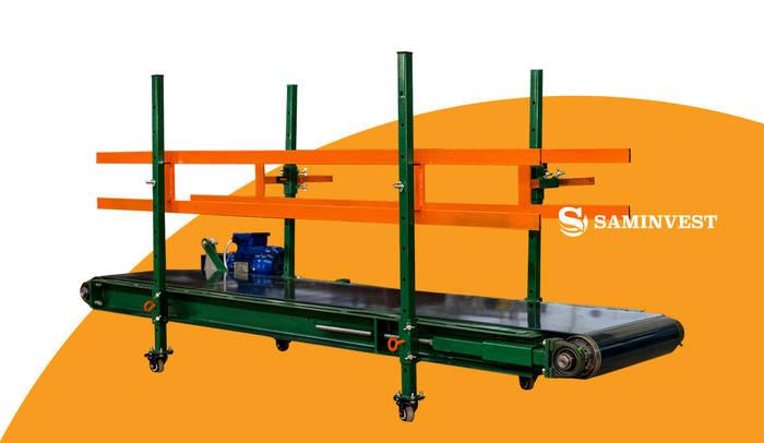 Транспортер на высоту 2 м ленточный весовой конвейер