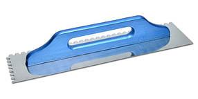 Гладилка швейцарская Favorit с нержавеющим покрытием 130 х 480 мм зуб 10 х 10 мм (08-252)