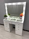 Стол визажиста с зеркалом и подсветкой V404, фото 2