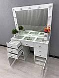 Стол визажиста с зеркалом и подсветкой V404, фото 6