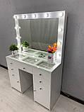 Стол визажиста с зеркалом и подсветкой V404, фото 7