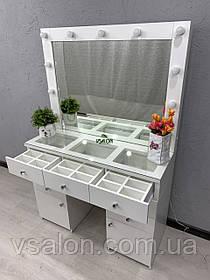 Стол визажиста с зеркалом и подсветкой V404