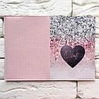 Обкладинка для паспорта Серце і блискітки, фото 3